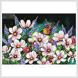 cross stitch pattern Pink Cosmos