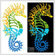 cross stitch pattern Seahorse Design 2