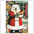 cross stitch pattern Santa Bear