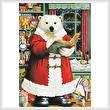 cross stitch pattern Santa Bear