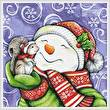 cross stitch pattern Snowman with Squirrel