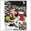 cross stitch pattern Teddy Santa with Snowman