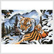 cross stitch pattern Tiger Dawn