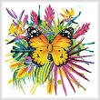 cross stitch pattern Tropical Butterfly