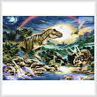 cross stitch pattern Tyrannosaur