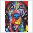 cross stitch pattern Abstract Basset