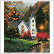 cross stitch pattern Autumn Chapel (Crop)