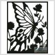 cross stitch pattern Butterfly Silhouette 2