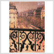 cross stitch pattern A Balcony in Paris