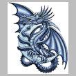 cross stitch pattern Blue Dragon
