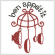cross stitch pattern Bon Appetit