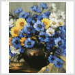 cross stitch pattern Bouquet of Blue (Crop)