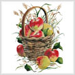 cross stitch pattern Basket of Apples