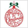 cross stitch pattern Christmas Bauble 1