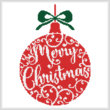 cross stitch pattern Christmas Bauble 2