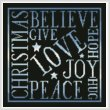 cross stitch pattern Christmas Square (Blue)