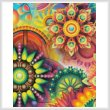 cross stitch pattern Colourful Abstract (Crop 1)