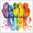 cross stitch pattern Colourful Birds