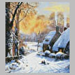 cross stitch pattern Cottages and Sledgers (Crop)