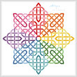 cross stitch pattern Celtic Rainbow Star