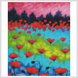 cross stitch pattern Dancing Poppies (Crop)