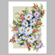 cross stitch pattern Floral Beauty