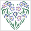 cross stitch pattern Flower Heart 1
