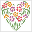cross stitch pattern Flower Heart 2