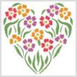 cross stitch pattern Flower Heart 2