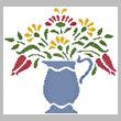 cross stitch pattern Flower Pitcher