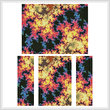 cross stitch pattern Fractal Abstract 2