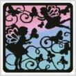 cross stitch pattern Fairy Silhouette Square 5