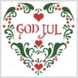 cross stitch pattern God Jul