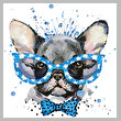 cross stitch pattern Groovy Pup 2