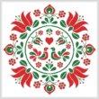 cross stitch pattern Hungarian Folk Art Design