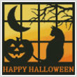 cross stitch pattern Halloween Square 3