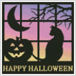 cross stitch pattern Halloween Square 1