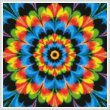 cross stitch pattern Kaleidoscope 1 (Crop)