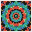 cross stitch pattern Kaleidoscope 5 (Crop)