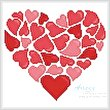 cross stitch pattern Little Red Hearts