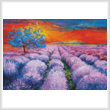 cross stitch pattern Lavender Field at Sunset