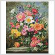 cross stitch pattern Mini June Flowers in Radiance