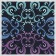cross stitch pattern Mini Purple Blue Green Square