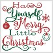 cross stitch pattern Merry Little Christmas