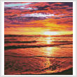 cross stitch pattern Ocean Sunrise