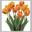cross stitch pattern Orange Tulips