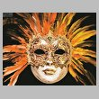 cross stitch pattern Orange Mask