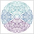 cross stitch pattern Purple Blue Green Circle