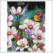 cross stitch pattern Pink Cosmos (Crop)