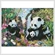 cross stitch pattern Panda Valley